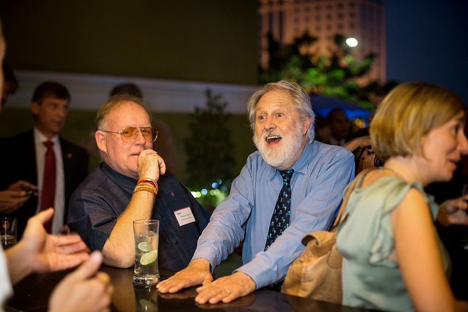 Lord Puttnam with ECCIL Vice President