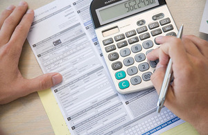 Calculating a tax return