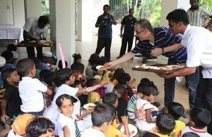 The party was organised to mark International Children's Day.
