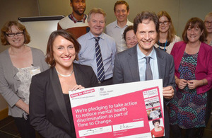 David Heyman, PHE Chairman signs the Time to Change pledge.