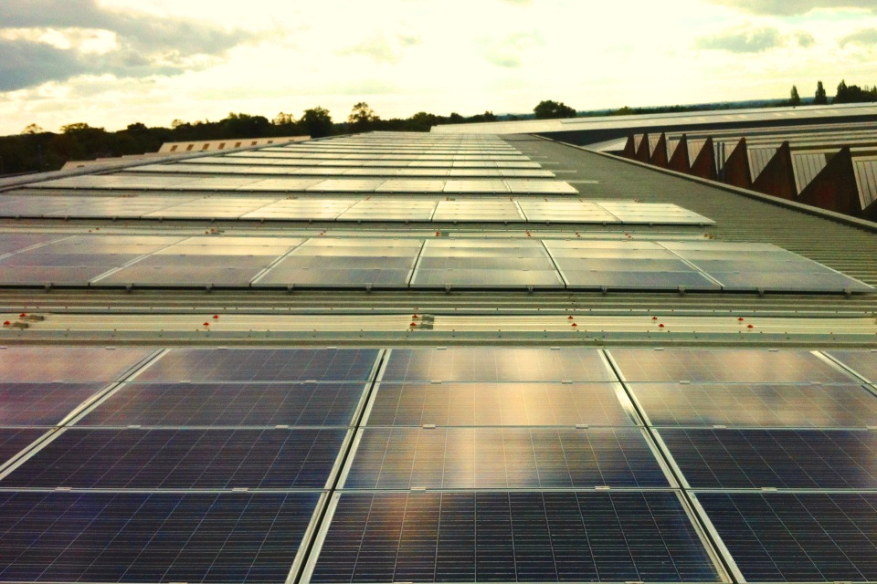 The Bentley Motors rooftop solar array