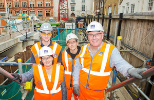 Jane Ellison MP and Tommy Walsh at Crossrail, Bond Street
