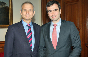 David Lidington and Pavel Khodorkovsky