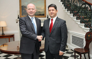 William Hague and Titus Corlăţean