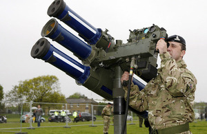 A soldier mans a Starstreak high velocity missile system (library image) [Picture: Graeme Main, Crown copyright]