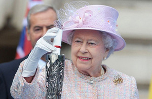 Her Majesty The Queen Launches Glasgow 2014 Queen's Baton On Global Journey (Image: Glasgow2014)