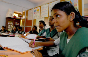 Girls in school in Chennai, India. Picture: Pippa Ranger/Department for International Development