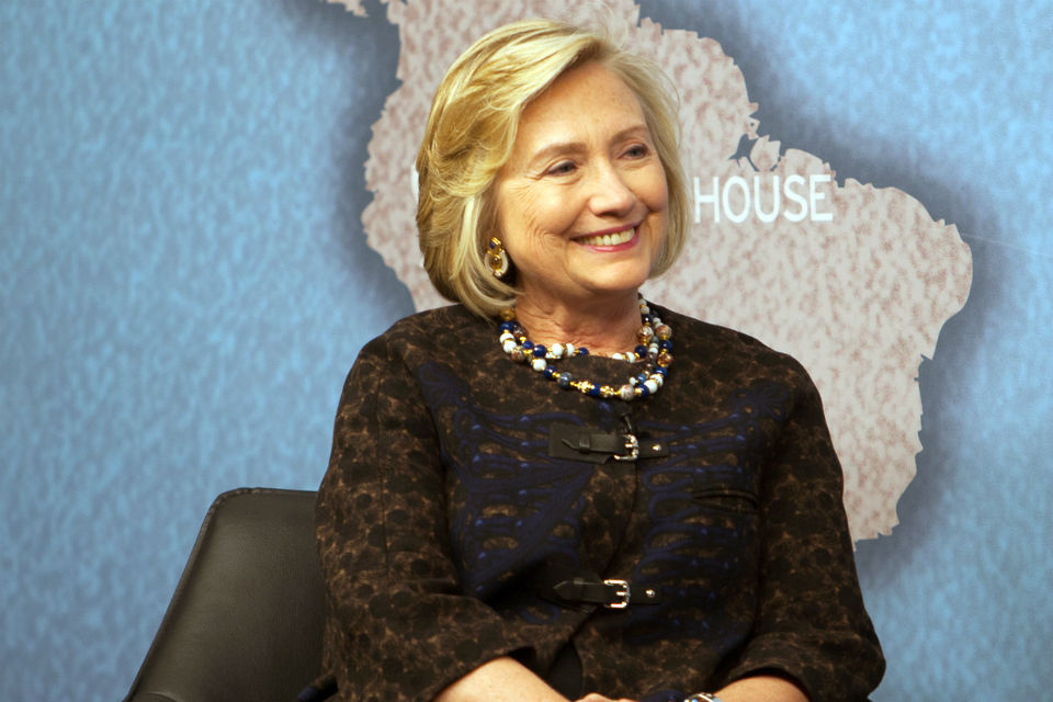Hillary Clinton at the Chatham House award ceremony