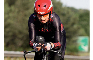 Major Claire Fraser training hard in order to represent Guyana in cycling at the Olympics