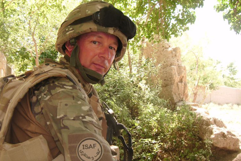 Warrant Officer Class 2 Marc Lovatt in Helmand province, Afghanistan