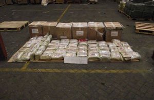 Operation Tapestry - 300kg of seized tobacco
