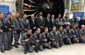 GE Aviation Wales apprentice graduation ceremony.