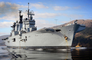 HMS Illustrious approaches Glen Mallan (library image) [Picture: Leading Airman (Photographer) Keith Morgan, Crown copyright]