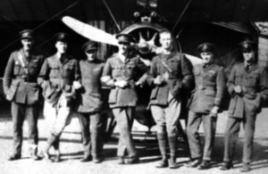 Piolets Cooke Hollington Murray Coote Godfrey Stokes Shephard at Stow Maries during the First World War (1917)