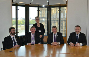 Island delegation with Alistair Carmichael