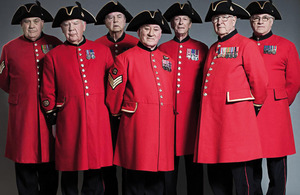 The seven Chelsea Pensioners helping raise funds for the refurbishment of the Royal Hospital Chelsea with their debut album 'Men in Scarlet'