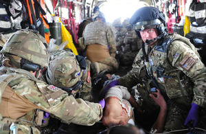A Medical Emergency Response Team carrying out lifesaving work in Afghanistan (library image) [Picture: Sergeant Alison Baskerville, Crown copyright]