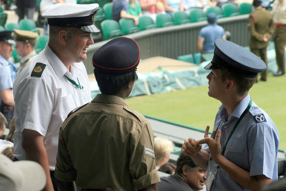 Wimbledon will be used for the Tennis competition of the 2012 Games. Personnel from all three Services have acted as stewards at the All England Lawn Tennis Club since 1947