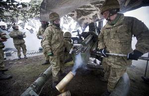 Reservists of 105 Regiment Royal Artillery firing a 105mm light gun during an exercise (library image) [Picture: Richard Watt, Crown copyright]