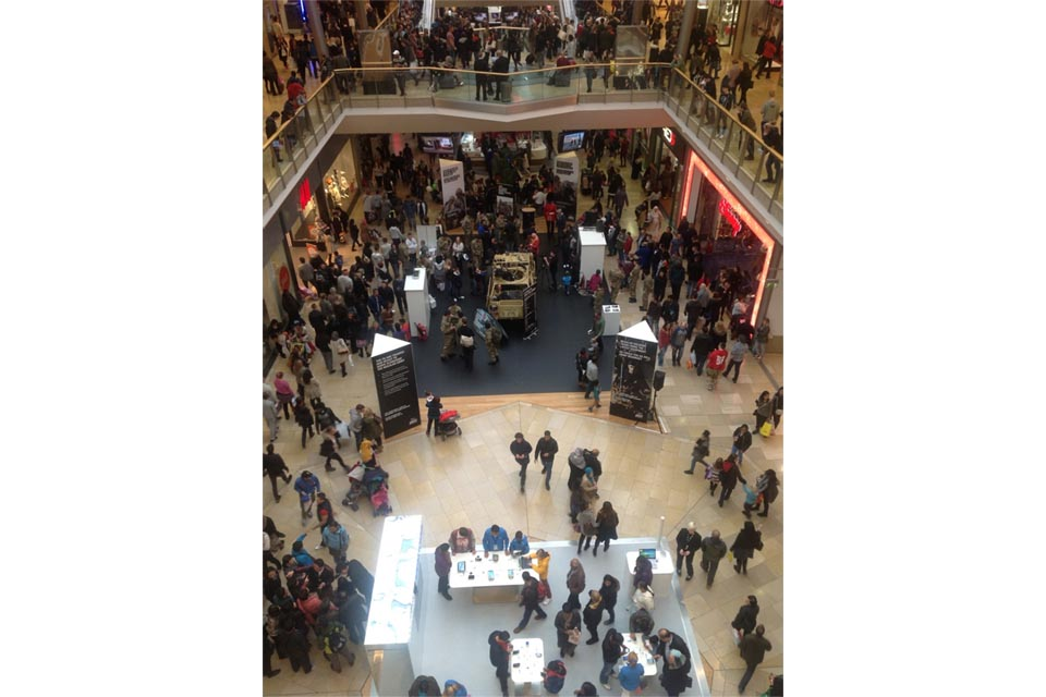 Army reservists exhibiting in Birmingham