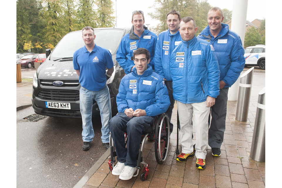 Members of the Combined Services Disabled Ski Team