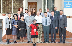 Kazakh and Kyrgyz Military English Teachers gather for training in Almaty