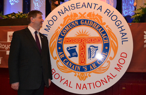 Alistair Carmichael at Royal National Mod