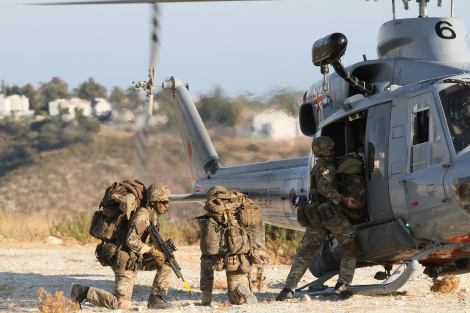 Deploying by helicopter