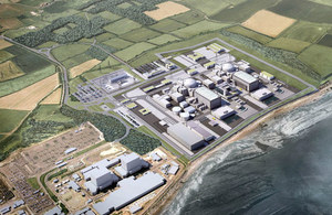 Hinkley nuclear power station computer graphic