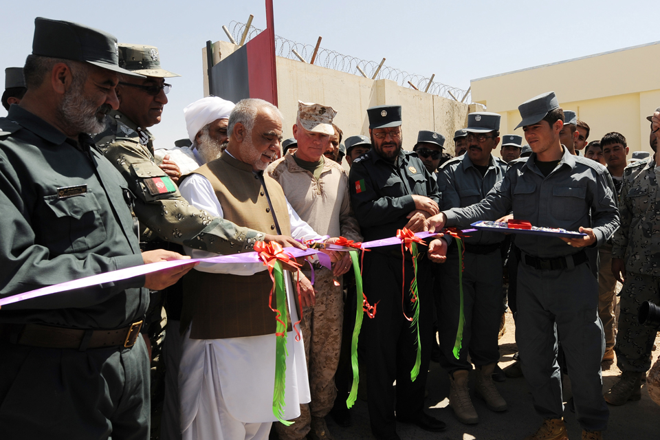 The opening of the new complex at Lashkar Gah Training Centre
