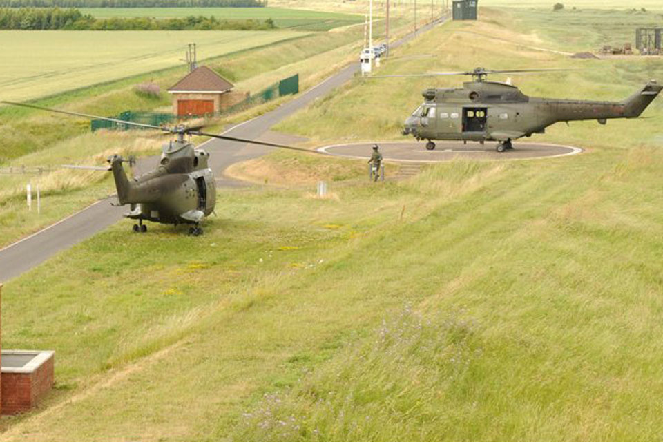 Puma helicopters at AWR Holbeach