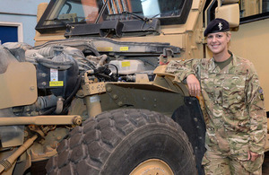 Corporal Sian Davies was an instructor on Exercise Southern Bluebell [Picture: Captain Tom McShane, Crown copyright]