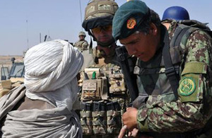 RAF police provide extra security on Afghan National Army patrol