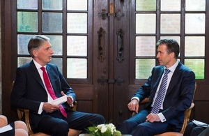 Philip Hammond with NATO Secretary General Anders Fogh Rasmussen