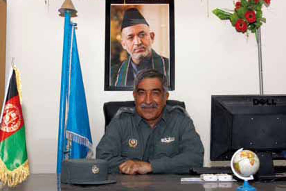 Lieutenant Colonel Shahdi Khan, the District Chief of Police for Nad 'Ali