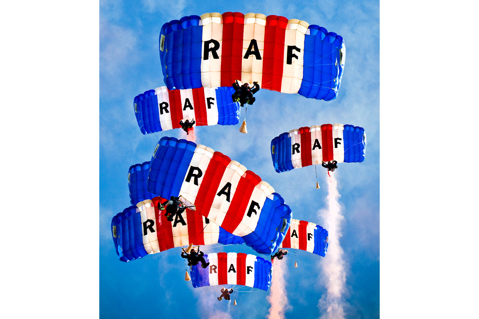 The Royal Air Force Falcons Parachute Display Team