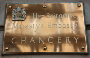British Embassy Paris - Chancery plaque