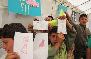 Syrian refugee children in Bekaa Lebanon