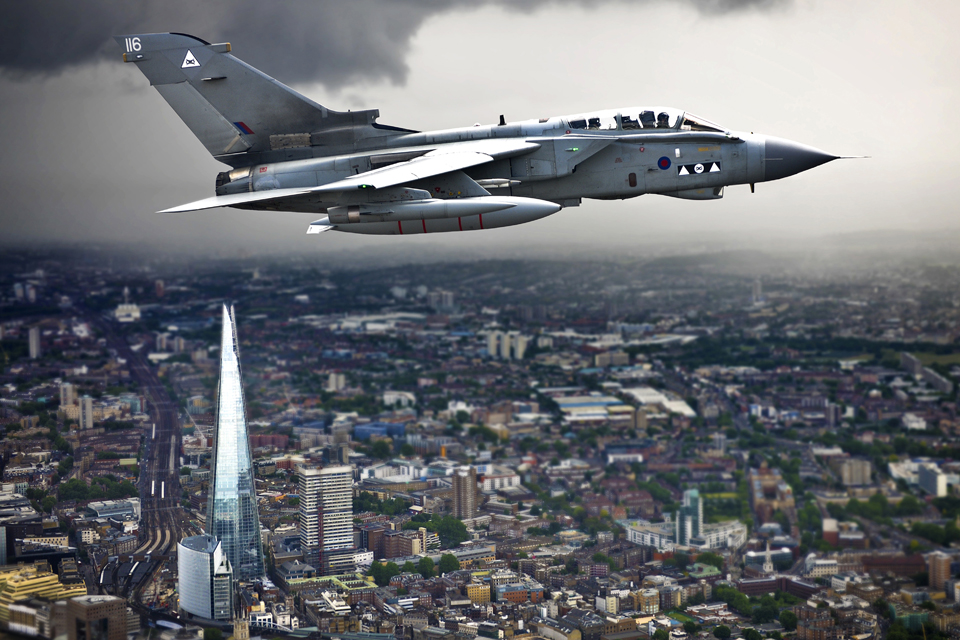 RAF Photograph of the Year: A Tornado flying over the Shard