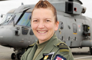 Lieutenant Commander Kay Burbidge has become the Fleet Air Arm's first ever female Senior Observer