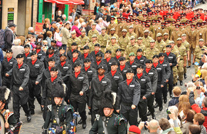 Troops on parade at the Armed Forces Day national event in Edinburgh