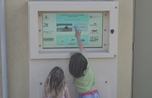 Summerleaze Beach interactive touch-screen