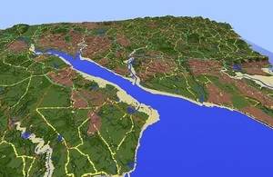 Southampton Water in the virtual map of England