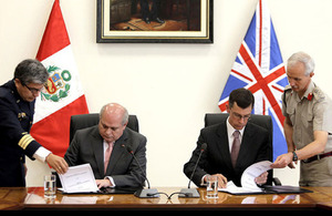 UK and Peru sign defence memorandum of understanding
