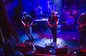 Morning Parade performs at the Music is GREAT Britain showcase in New York City. Photo by Prue Loney.
