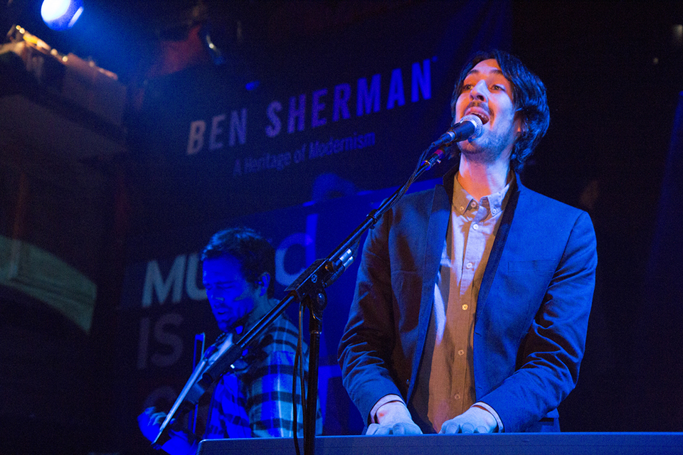 Duologue performs at the Music is GREAT Britain showcase in New York City. Photo by Prue Loney.