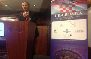 Lord Green, UK Minister for Trade and Investment addressed UK-Croatia Investment Forum