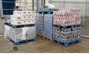 Pallets of seized beer
