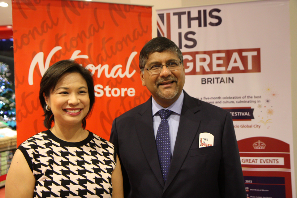 Xandra Ramos-Padilla, National Book Store's Purchasing Director and Ambassador Asif Ahmad.