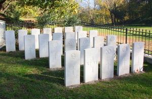 The British and Commonwealth Memorial site in Tirana
